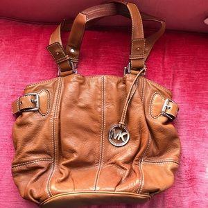 Michael Kors brown leather slouchy shoulder bag